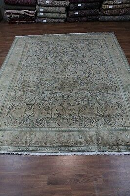 10X13 Antique Washed Faded Tabriz Persian Rug Oriental Area Carpet Sale 10X12'7