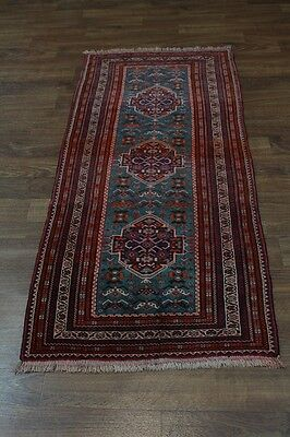 Unusual Design Handmade Tribal Balouch Persian Rug Oriental Area Carpet 3X6