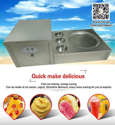 New style fried ice cream machine with temperature setting and control function