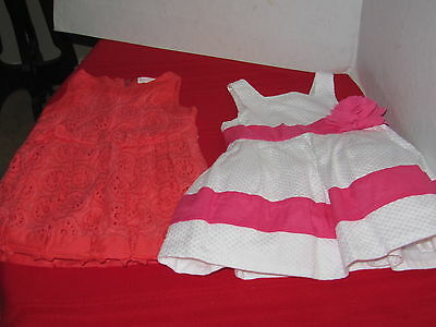 2 Janie And Jack Baby Girl Size 6-12 Month Dress Summer Sun Dress