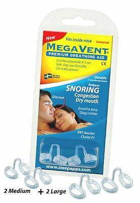 Megavent v 2.0 - New Swedish Nasal Breathing   Snoring Aid. CE reg. Clinically p