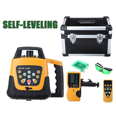Self-leveling 360° Rotary Laser Level 500M Range Green Laser Beam W/ Case