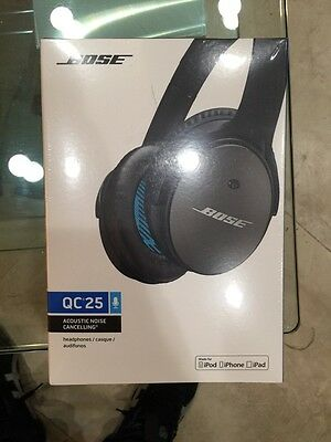 Bose QuietComfort 25 Black Headband Headsets for Apple