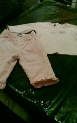 Benetton baby girl 3~6 month outfit