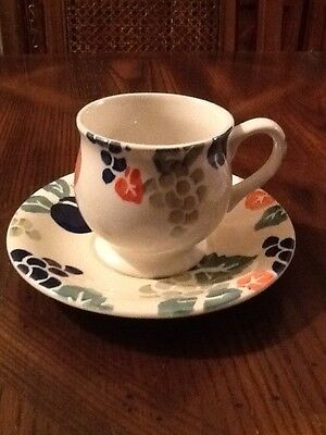 Royal Winton Bordeaux Hand Decorated Spongeware Cup And Saucer