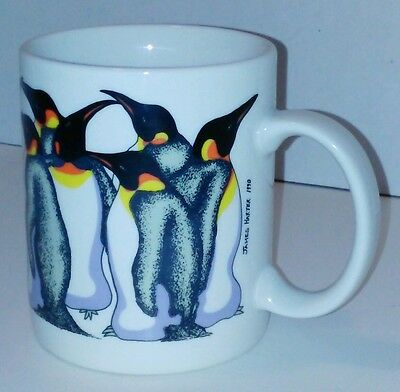 Ceramic Banana Appeal San Diego CA Penquin Coffee Cup Mug by James Harter 1990