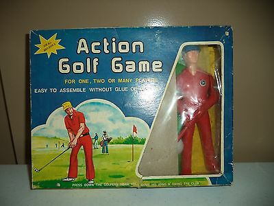 "VINTAGE ACTION GOLF GAME WITH 8"" ACTION GOLFER FIGURE - 1960s"