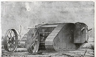 """Ww1 1914 1918 Post Card """"one Of Our Tanks"""" Unused"""