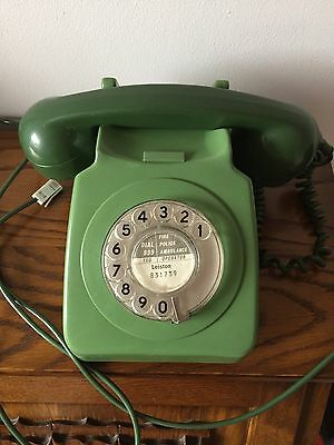 Vintage Retro GPO/BT Green Telephone - Tested & Working