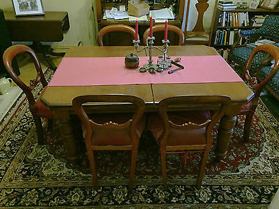 **PRICE DROP** Victorian 6-8 seater Cedar dining table and 6 chairs
