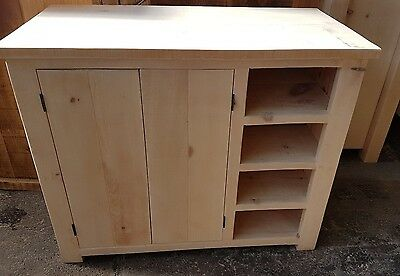Rustic Solid Wood Cupboard And Shelving Unit Wooden Cupboard With Shoe Storage