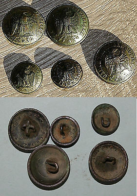 Lot boutons militaires anciens Napoleon III Empire Button Garde