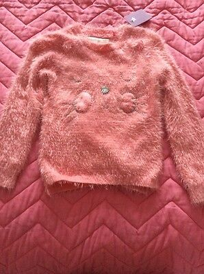 girls age 5 years city kitty pink pretty jumper nwt