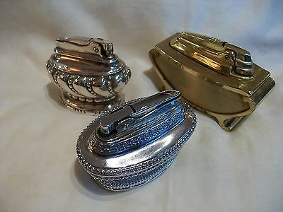 Trio of table lighters