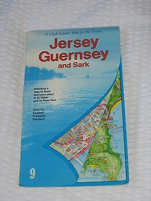 Map Of Jersey, Guernsey And Sark Including Map Of Herm - Used