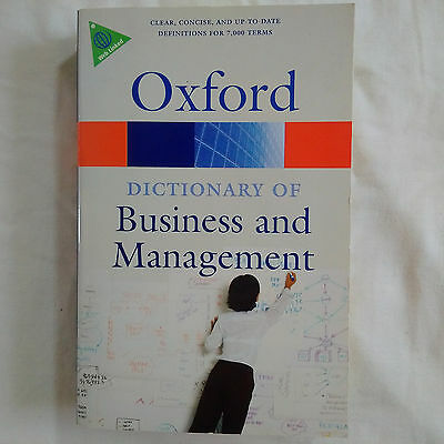 Oxford Dictionary of Business and Management (2009)