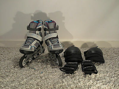 Oxelo FIT 5 Women's Inline Fitness Skates Package - Grey/Blue - UK Size 4