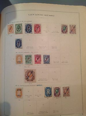 Page of  1900 16 used stamps russian levant   Postage