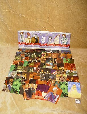 Anastasia Trading Cards By Upper Deck 1998 68 Normal, 3 Diecut, 1 Holo + Packets