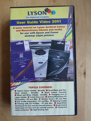 Lyson Digital Printer Ink User Guide and Tutorial VHS Video
