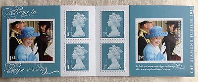 """PM33 6x1st Jubilee stamps""""MCND"""" Barcode Book"""