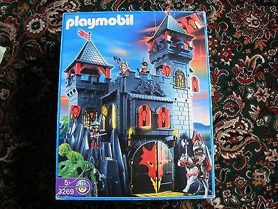 Playmobil 3269 Knights Rock Castle, Plus Horses Knights ect. Boxed.