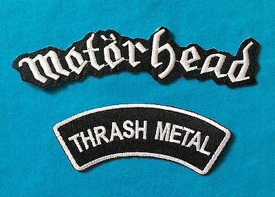 2  MOTORHEAD THRASH METAL  Embrodered Iron Or Sewn On Patch Free Ship
