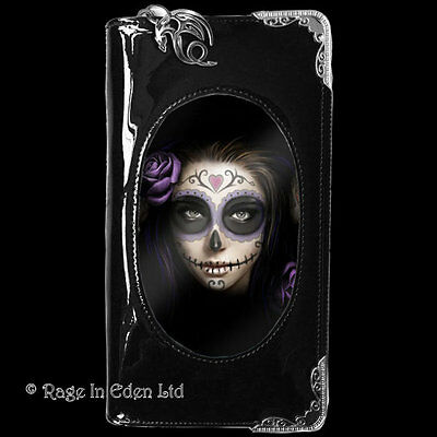 *DAY OF THE DEAD* 3D Lenticular Gothic Art PVC Purse / Wallet By Anne Stokes