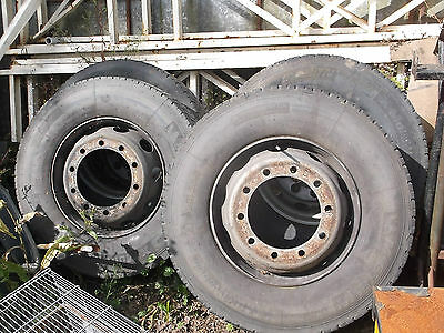 4x lorry wheels and tyres 315 70 R22.5