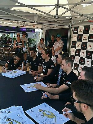 Personally Signed Trek/ Segafredo 2017 Team Cycling Photo