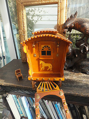 Antique Romany Gypsy Caravan Musical Beautiful Inside Solid Bought Appelby Fair