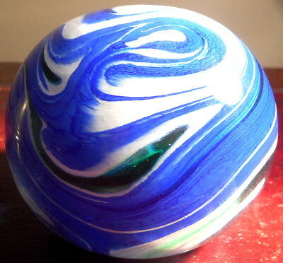 Wedgwood Glass Circular Spindrift Paperweight, Signed