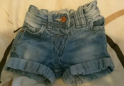 beautiful girls 12-18 month denim shorts from Next