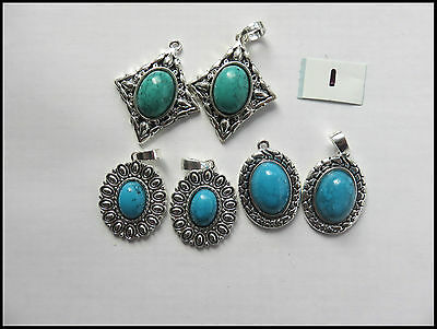 Pendants with Lucite Stone x6 pcs Earrings jewellery design Findings Necklaces