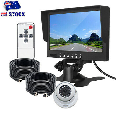 "Wireless Reversing CCD Camera for bus truck caravan car 7"" Monitor Screen 12-24V"