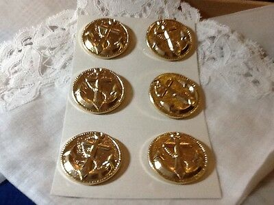 Gold Metal Anchor Buttons