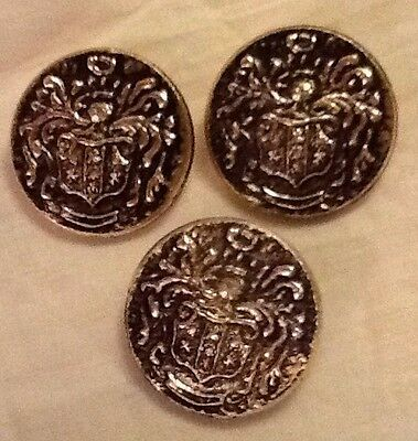 Large Metal Gold And Black Buttons