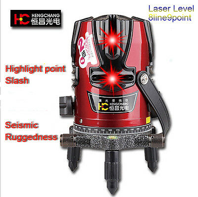 360degree Self- leveling Red 8 Lines 9 Point Laser Level (4V4H1D) Rotary Cross