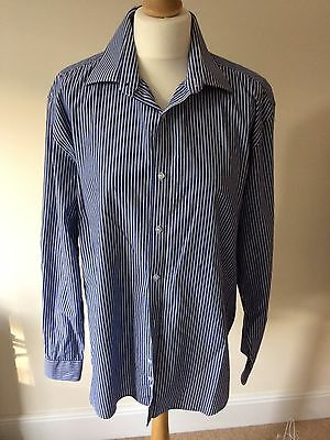 Taylor And Wright Men's Blue And White Shirt