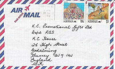 P 1594 Australia $1.10 Living Together stamps on 1990 cover air to UK;