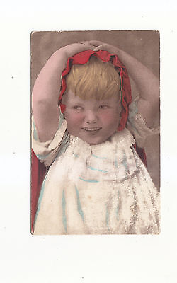Charming Postcard Of A Smiling Little Girl-.a Clifton Bromogravure Postcard