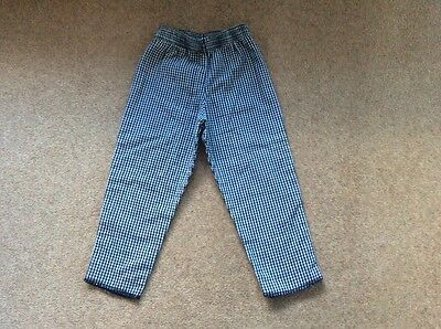 Boys vintage 1990s black and white check trousers age approx  18  months