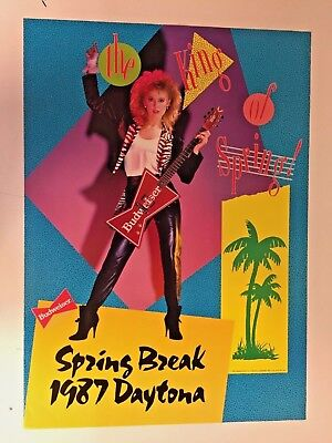 Vintage 1987 Budweiser Daytona Spring Break Advertising Poster King Of Spring