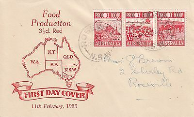 P 1759 Smyth Red Food Production FDC  February 1953.