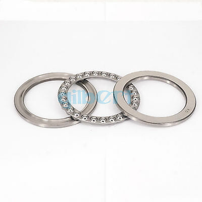 (1)51120 100x135x25mm Axial Ball Thrust Bearing (2 Steel Races + 1 Cage)ABEC-1