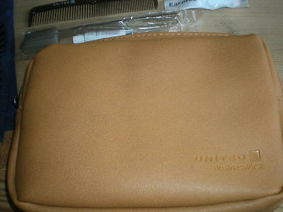United Airlines Business First Class Men's Amenity Bag