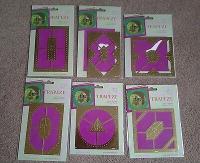 Six Trapeze Crafting Stencils Various Designs