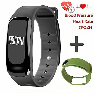 Blood Pressure Bracelet Fitness Tracker - Homestec S4 Smart Watch with SPO2H