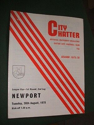 Exeter City V Newport County. 1975-76 League Cup