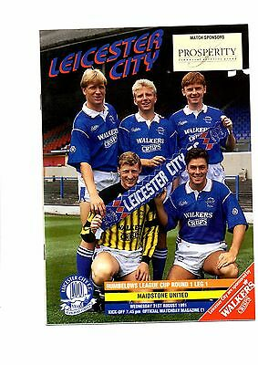 Leicester City v Maidstone United Rumbelows Cup 1991